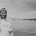 sea loving bride in Cornwall river Fal
