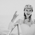 rock and roll bride shell crown