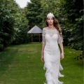 minihaha festival feather wedding headdress