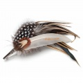 spotty feather corsage brooch pin