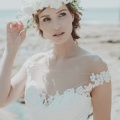 ivory flower crown bridal holly young