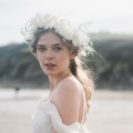 ivory leaf wild flower crown Holly Young millinery