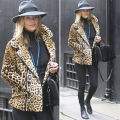Kate moss in winter fedora hat