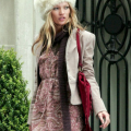 Kate Moss over sized furry hat