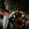 paper sunflower bridesmaids bouquets