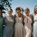 beautiful bridesmaids in mixed dresses
