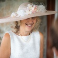mother of the bride hat nude pink
