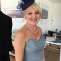 navy mother of the bride pill box hat