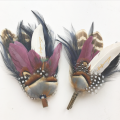 wedding guests couples matching feather accessories Holly Young