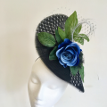 light weight black wedding guest hat Holly Young