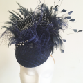 navy statement ascot hat Holly Young Millinery