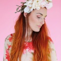 large pastel flower crown
