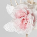 blush pink ivory flower fascinator