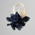 navy and ivory flower fascinator