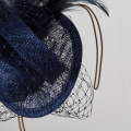 navy wedding fascinator