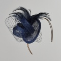 navy wedding fascinator Holly Young