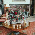 country house winter wedding styling