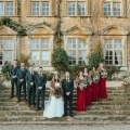 country winter wedding red and tweed