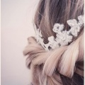 silver wedding hair vine