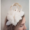 ivory flower wedding fascinator Holly Young