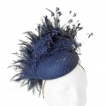 navy cocktail perch hat Holly Young