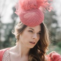 occasion hat shown in coral