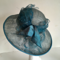 teal wedding hat
