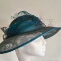 teal and turquoise wedding hat
