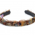 pheasant feather hair band