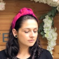 ruby red silk turban head band