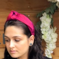 knotted headband pink red
