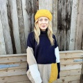 Yellow wool beret hat