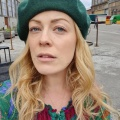 Bottle green wool beret