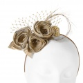 gold rose hair accessory