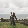 boho cornwall clifftop elopement wedding