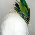 green feather sex in the city style headpiece