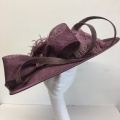 Plum mother of the groom hat