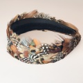 pheasant and spotty feather hair band