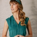 green knotted headband holly young