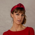 red silk knotted headband