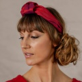 red knotted headband holly young