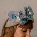 metallic sequin flower halo Holly Young