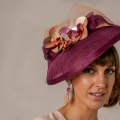 wine contemporary mother of the bride hat