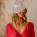 polka dot veil occasion hat holly young