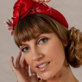 red knotted occasion headband