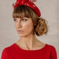 red races wedding crown headpiece