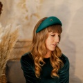 emerald green halo hat Holly young