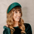 emerald green silk halo hat