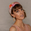 pink encrusted padded headband holly young