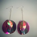 over sized sequin earrings in pink
